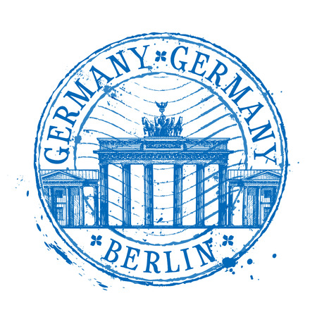 germany: historic architecture on a white background. vector illustration Illustration
