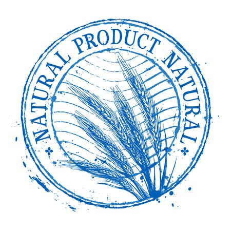 wheat on a white background. vector illustration Illustration