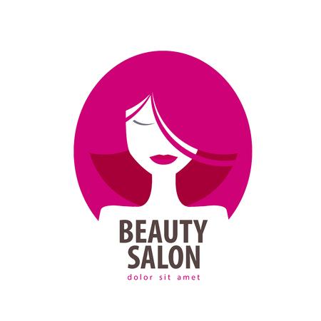 maquillage: vecteur de beauté modèle de conception de logo. cosmétique ou fille, femme icône Illustration