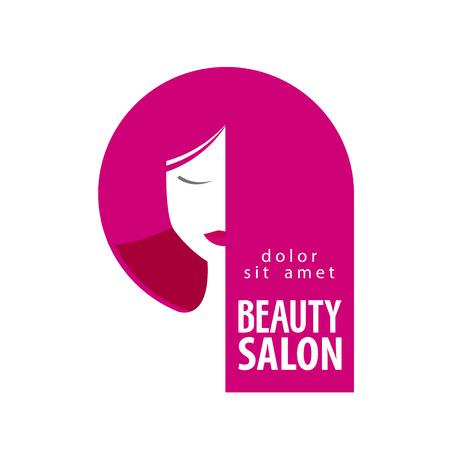 salon de belleza: la cabeza de una chica hermosa en un fondo blanco. ilustración vectorial