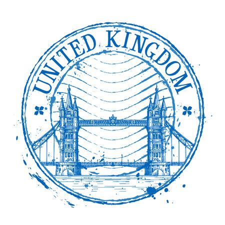 stamp: arquitectura hist�rica sobre un fondo blanco. ilustraci�n vectorial Vectores