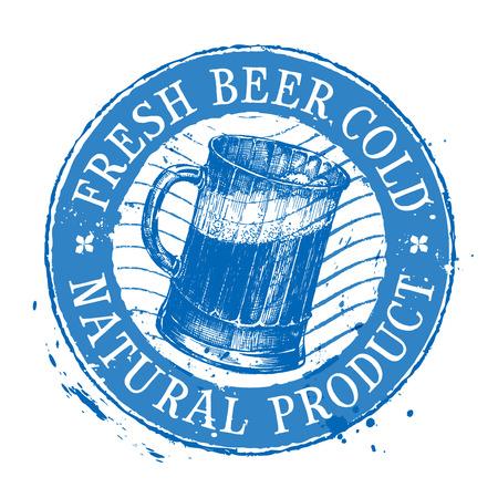 tipple: mug of beer on a white background. vector illustration