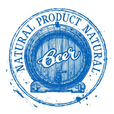 barrels: barrel of beer on a white background. vector illustration