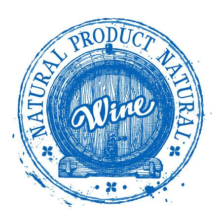 tipple: barrel of wine on a white background. vector illustration Illustration