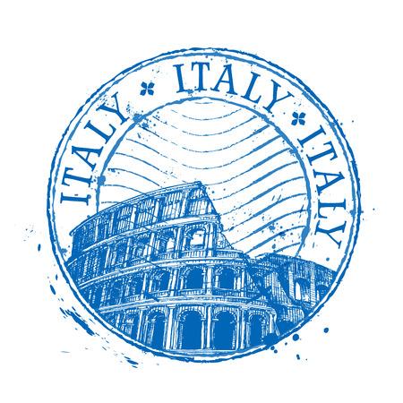 threadbare: Colosseo in Italia, su uno sfondo bianco. illustrazione vettoriale