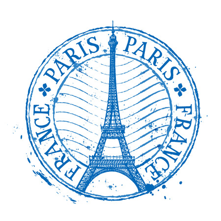 Eiffel tower in Paris on a white background. vector illustration Reklamní fotografie - 44046029