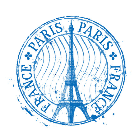 paris: Eiffel tower in Paris on a white background. vector illustration