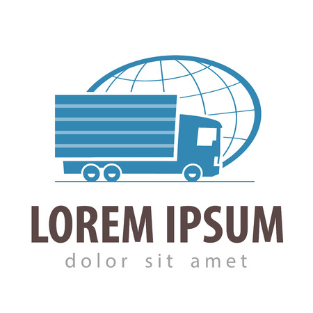lading: delivery. truck on a white background. illustration