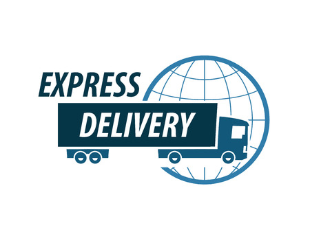 char: delivery. truck on a white background. vector illustration