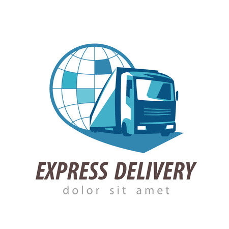 delivery. truck on a white background. vector illustration