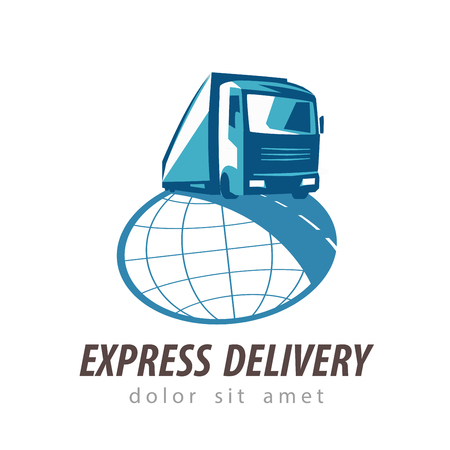 haul: delivery. truck on a white background. vector illustration