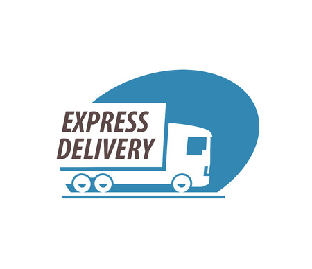 lading: delivery. truck on a white background. vector illustration