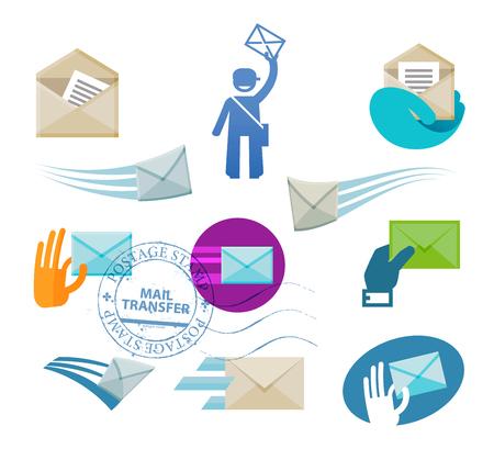 envelope with letter on white background. vector illustration Illustration