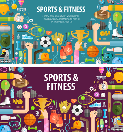 sport fitness: sports on a white background. vector illustration Illustration