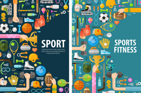 健身: 體育在白色背景上。插圖