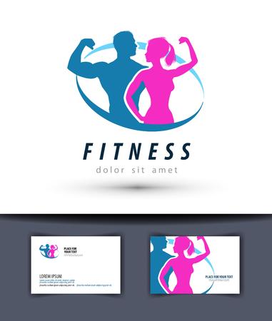 sport en fitness op een witte achtergrond. illustratie Vector Illustratie