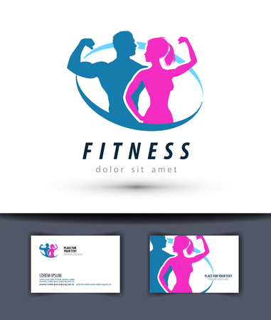 bodybuilding: sports and fitness on a white background. illustration