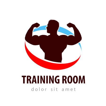 hobby: bodybuilder on a white background. vector illustration Illustration