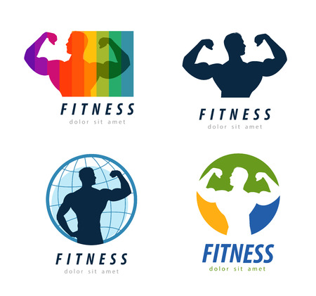 sports and fitness on a white background. vector illustration Illustration