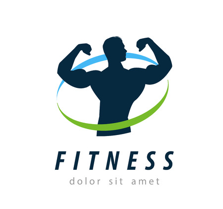 sports and fitness on a white background. vector illustration Иллюстрация