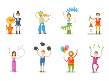 buffoon: the circus on a white background. vector illustration