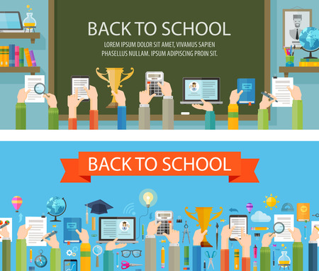 schoolbook: school and education on a dark background. vector illustration