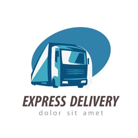 ciężarówka: delivery. truck on a white background. vector illustration