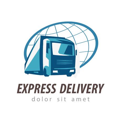 Livraison. camion sur un fond blanc. illustration vectorielle Banque d'images - 46577557