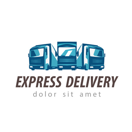 trucking: delivery. truck on a white background. vector illustration