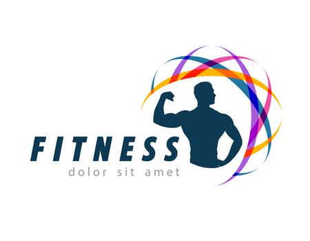 fitness hombres: fitness y deportes sobre un fondo blanco. ilustraci�n vectorial
