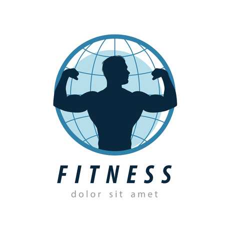 body builder: fitness and sports on a white background. vector illustration