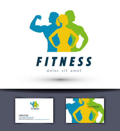 fit man: fitness and sports on a white background. vector illustration