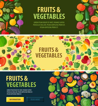 campesinas: alimento natural sobre un fondo blanco. ilustración vectorial