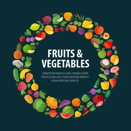 cebollas: los alimentos. frutas y verduras en un fondo oscuro. ilustración vectorial