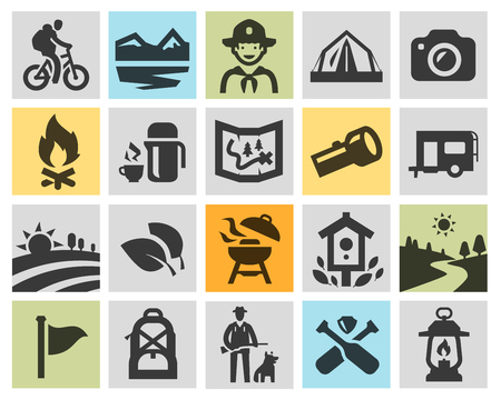 trails: campaign. collection of icons in the background. vector illustration