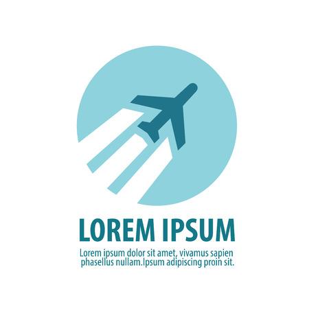 logotipo turismo: plano sobre un fondo blanco. ilustración vectorial
