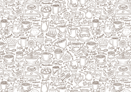 Coffee and coffee accessories. vector illustration 일러스트