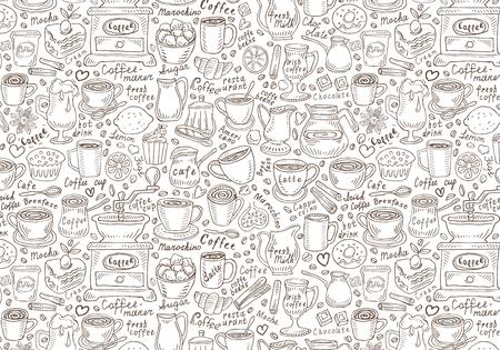 Coffee and coffee accessories. vector illustration Ilustração