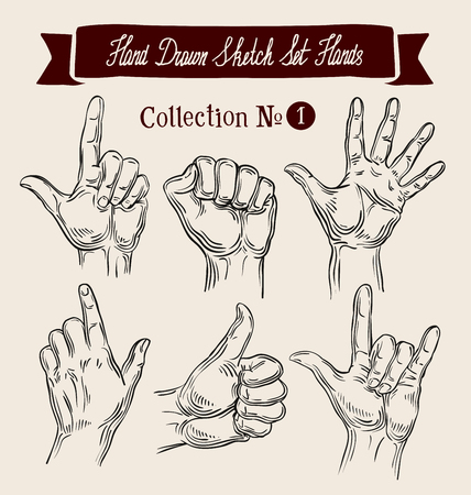 handbreadth: hand-drawn hands and arms.