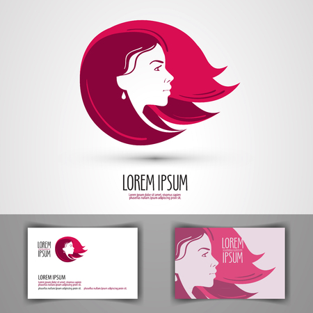womanish: face of a beautiful girl. vector illustration