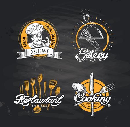 postre: conjunto de del restaurante o la cafetería. ilustración vectorial Vectores