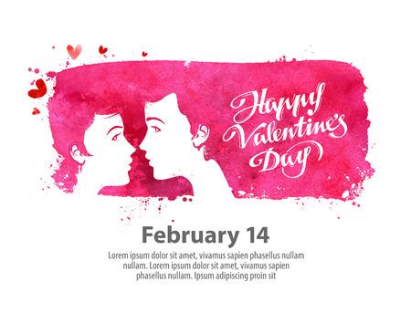 amor: postcard on the theme of Valentines day. vector illustration Illustration