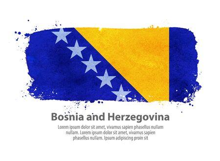 bosnia and herzegovina flag: the flag of Bosnia and Herzegovina isolated on white background. vector illustration