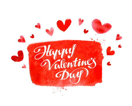 compliments: postcard on the theme of Valentines day. vector illustration Illustration