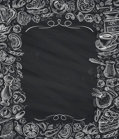 레스토랑, 카페 벡터 메뉴 디자인 템플릿