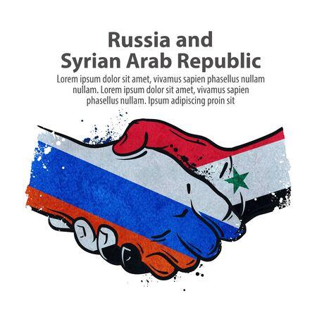 poignée de main sur le fond des drapeaux des pays du monde entier sur un fond blanc. illustration vectorielle