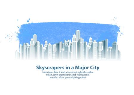 borough: modern beautiful city and the sky. vector illustration Illustration