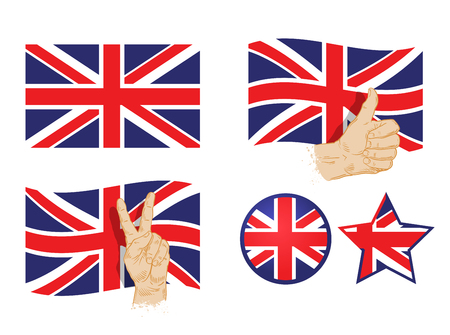 englishman: England flag isolated on white background. vector illustration