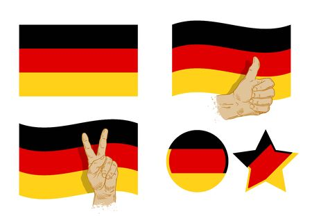 germany: flag of Germany isolated on white background. vector illustration
