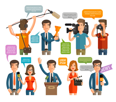excited people: the award icons set isolated on white background. vector illustration